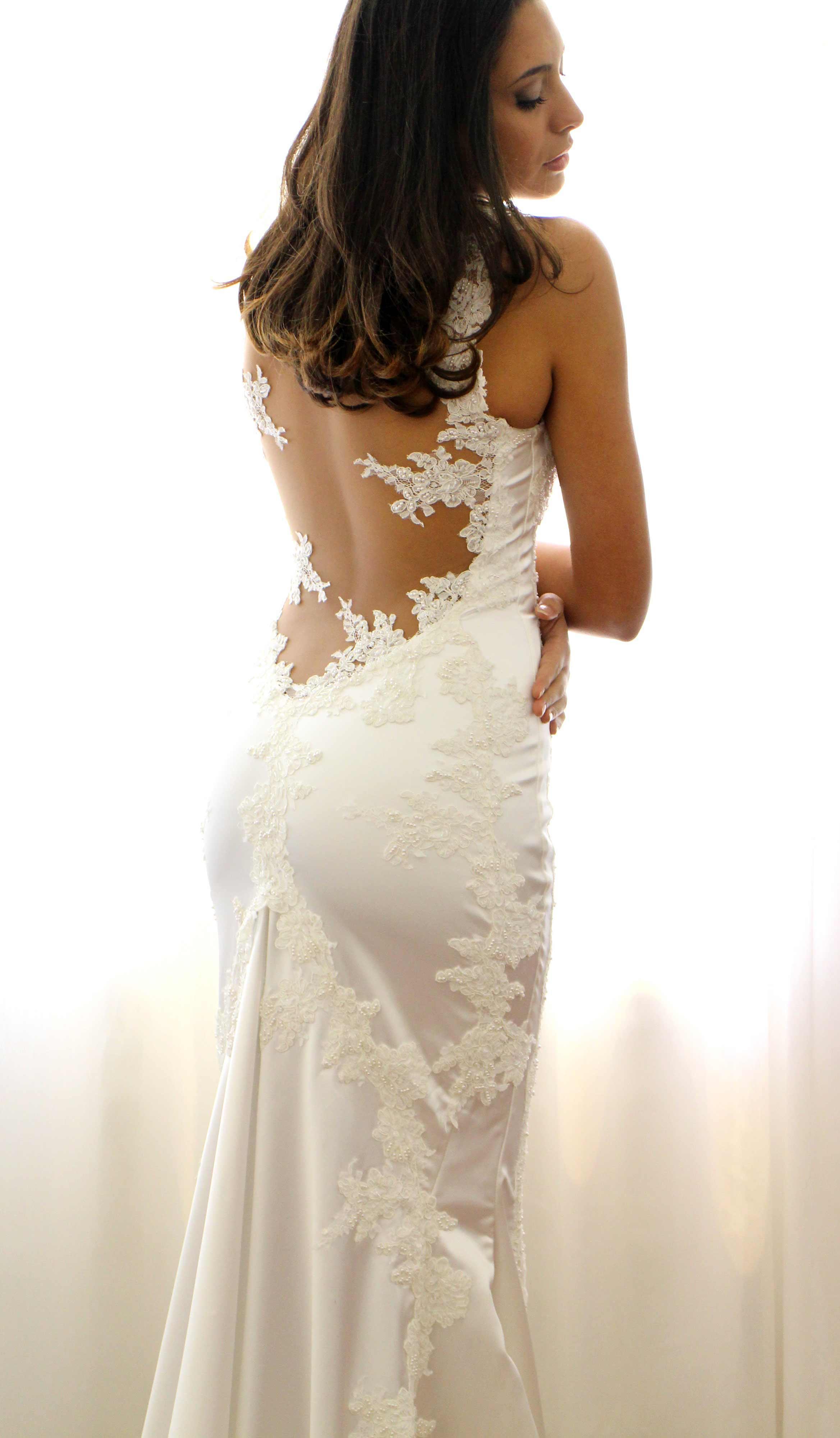 abito da sposa a sirena su misura Ateleba Sposa Napoli