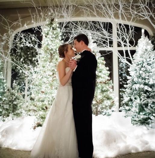 albero di natale al matrimonio